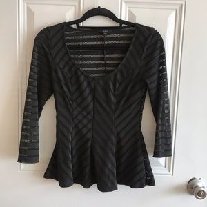 Guess black dress top